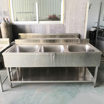 Commercial Stainless Steel Cheap Ss201 1 0mm Stainless Steel Kichen Sink With 3 Compartment For Restaurant Buy Stainless Steel Kitchen Sink Unit Stainless Steel Sink Kitchen Equipment Product On Alibaba Com