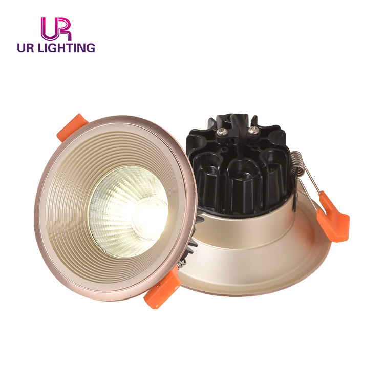 Modern Recessed indoor ceiling recessed gold white black thin 7w LED spot light