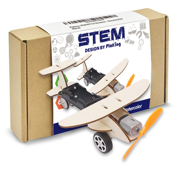 STEM DIY 3D wooden plane hand generator Physical Learning Toy Science Experiments Kits,STEM Learning Sets