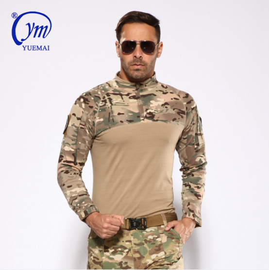 Army Tactical Camouflage Plain Shirt Combat Frog Style  military frog suits hunting digital camouflage clothing military uniform