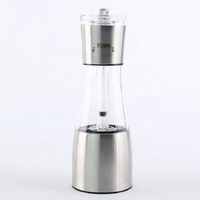 Best hand operated salt and pepper grinder plastic, Best small 2 in 1 salt and pepper grinder