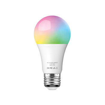 LED Wireless Light Bulb E26/E27 Remote Control 7W LED Bulb RGB+W Smart Bulb