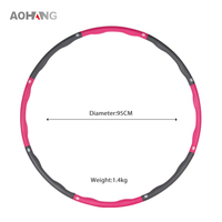 Hot Sale Weighted Exercise Fitness Weight Hula Ring Hoop For Adult