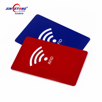 Mini 13.56 Mhz Active Rfid Card Luxury Black Metal Business Credit Cards Glossy With Own Logo