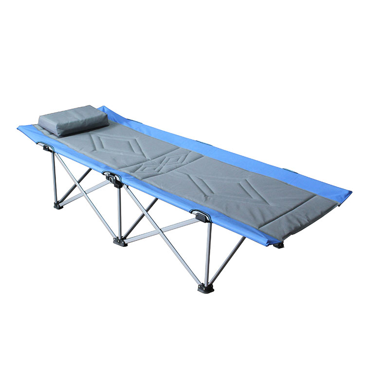 Stainless Steel Sunbed Manufacturer Sleeping Bed Iron Folding Camp Bunk Beds for Adults