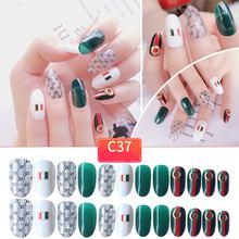 Поддельные ногти готовой руки ногтей легко патч 24 части клея моды короткий размер Леди Полный ногтей советы(Китай)
