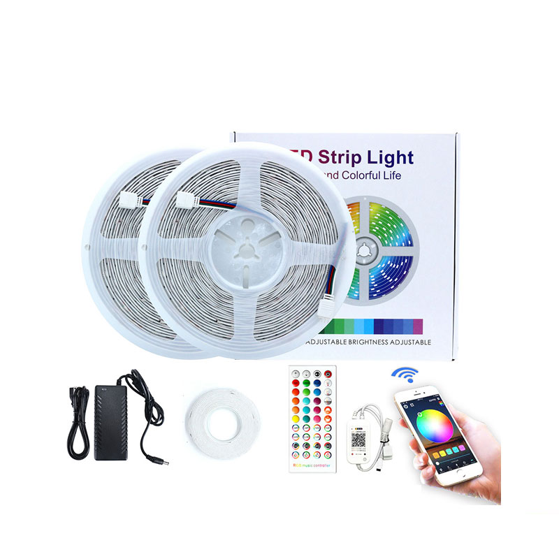 New arrival china manufacturer RGB led strip light 20m 600leds bluetooth app control 30leds per meter 10m led strips