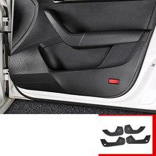 Lsrtw2017 Кожаный Автомобильный Брелок с внутренней двери анти-kick коврик для Skoda Octavia a7 2015 2016 2017 2018 2019 2020 интерьерные аксессуары(Китай)