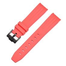 * Ремешок для часов 20 мм из натурального каучука, силиконовый ремешок для часов 21 мм, ремешок с пряжкой, ремешок для ушей, сменный ремешок для ...(Китай)