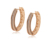 99242  Xuping Jewelry Fashion 18K Gold Plated Hoop Earrings