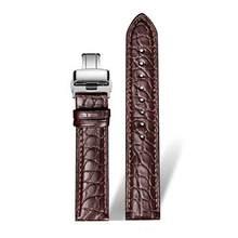 Ремешок для часов DOM из натуральной кожи крокодила, ремешок для часов из натуральной кожи 14 мм 16 мм 18 мм 20 мм 22 мм 24 мм Черный Коричневый женск...(China)