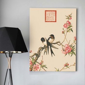 Fine art Chinese artwork bird and flower drawing wall painting art canvas prints