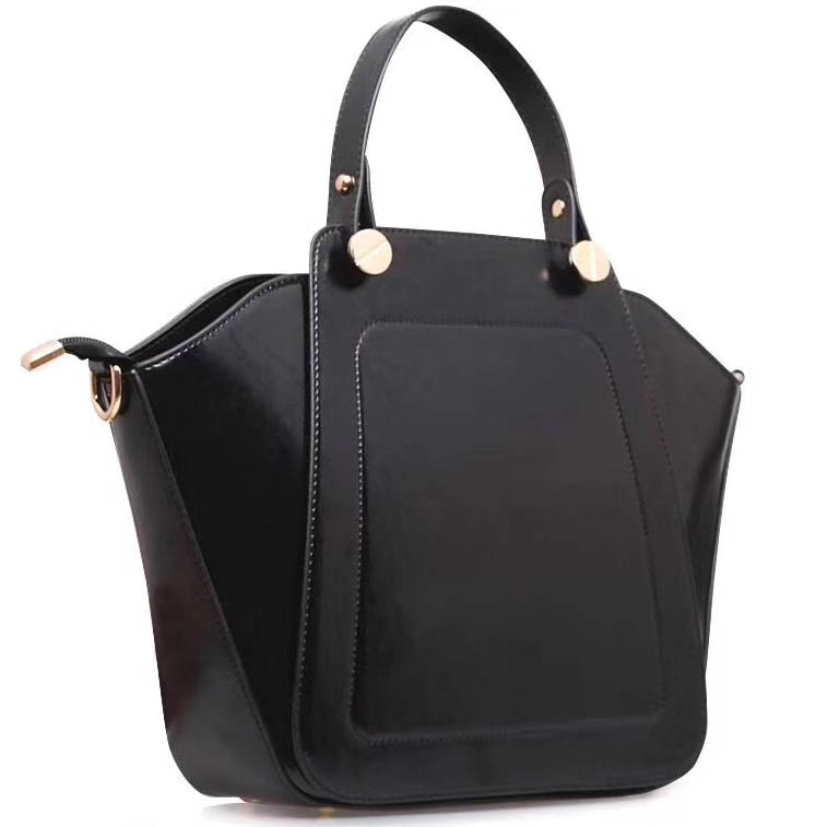 Handbags for Women Shoulder Bags Tote Satchel 1pcs Purse Set Black