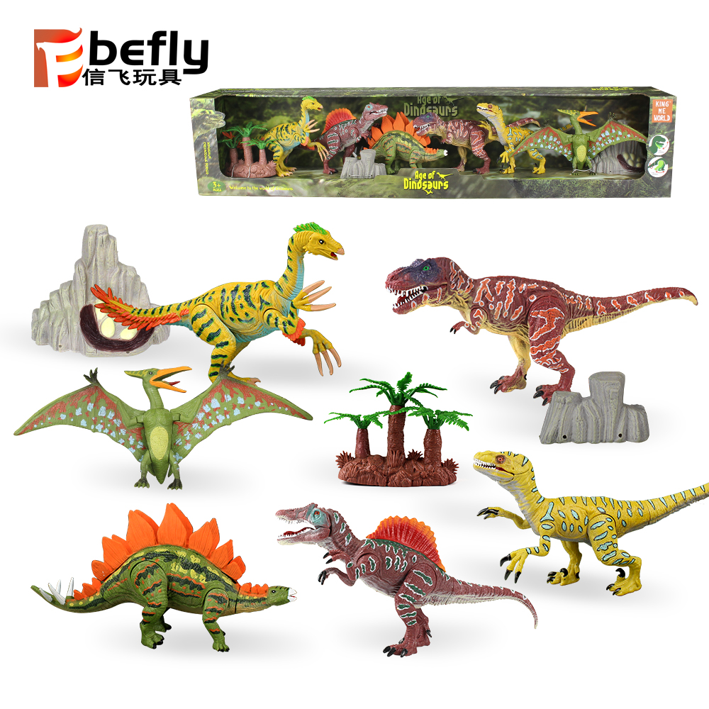 9pcs 5 to 9inch Plastic toy Realistic Dinosaur Figures dinosaurio juguetes with Movable Jaws