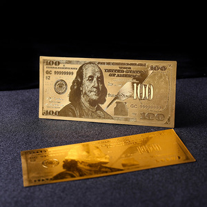 Wholesale 24k gold banknote Gold Foil Banknote USD 100 Notes .USD Bill 24K Gold Plated For BILL