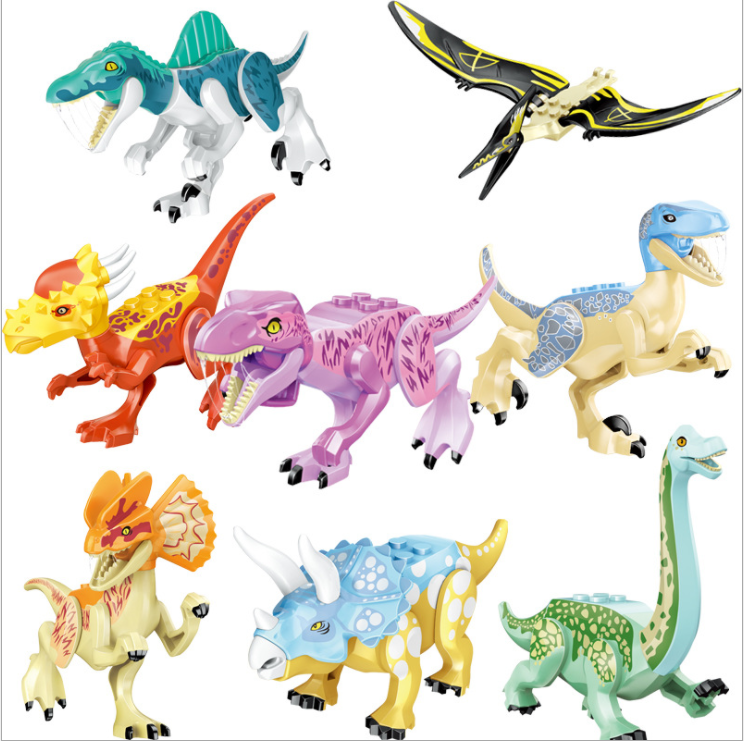 Jurassic World Dinosaur Building Blocks Compatible With Legoing Toy Puzzle Disassembly Animal Tyrannosaurus Rex