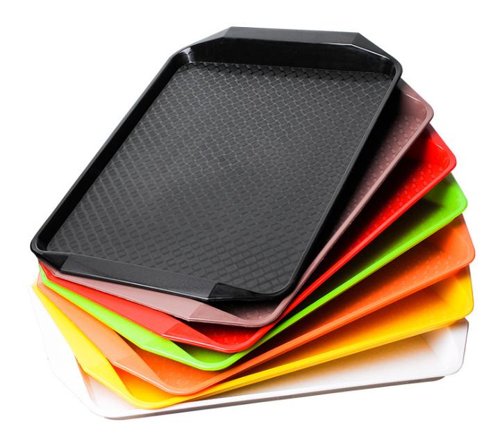 Atacado Placa Retangular Leve Rápido Alimentos Servindo Bandejas de Almoço Cantina Ótimo para Restaurante Cantina Da Escola e Laboratórios