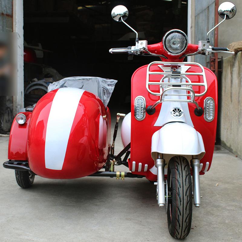 1500w 2000w دراجة ثلاثية العجلات دراجة اسكوتر 3 عجلات عجلة فيسبا Sidecar دراجة ثلاثية العجلات كهربائية