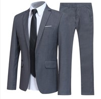 Anti Shrink Plus Size 4 Colors 2-Pieces (Blazer+Pants) Formal Wear Slim Fit Wedding Business Men's Suits Man