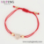 77000 Xuping charm red Valentine's Heart Shaped Red Rope Stretched, Adjustable Bracelet with Beads
