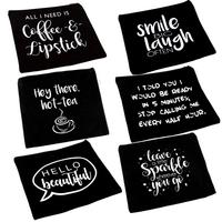 Personalized plain canvas organizer letter cosmetic shopping makeup bag set