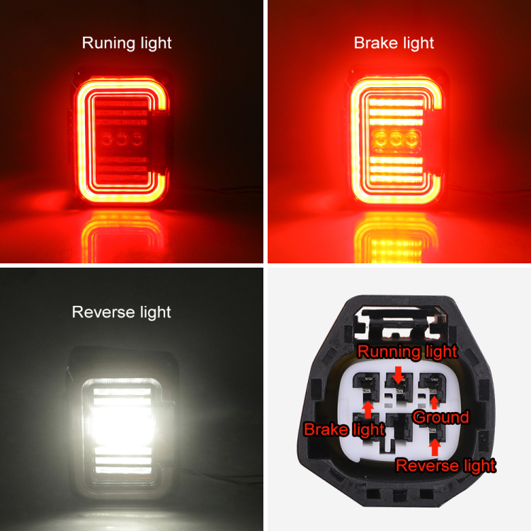 12V JK tail lights turn Signal Brake Stop Parking Reverse Rear Led Tail Light for Jeep Wrangler 2007-2017