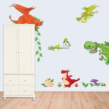 Милые животные живы в вашем доме DIY стикер на стену s Джунгли Лес тема обои подарки для детей наклейки для украшения комнаты домашний декор(Китай)