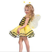 wholesales fancy child animal cosplay costume baby girl bee dress with wing