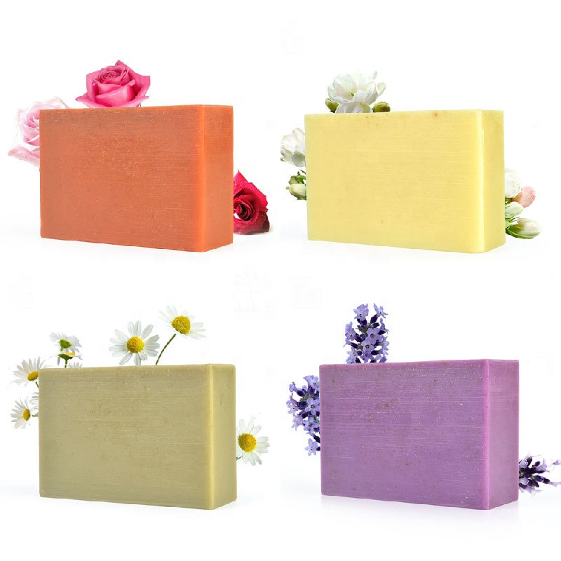 Private Label 100% Pure Organic Fruit Extract Facial Soaps Nourishing Deep Cleansing Whitening Lemon Handmade Soap for Face