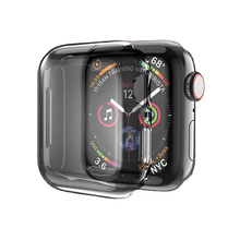 Algehele Beschermhoes <span class=keywords><strong>TPU</strong></span> HD Clear Ultra-Dunne Cover 40 44mm <span class=keywords><strong>Screen</strong></span> <span class=keywords><strong>Protector</strong></span> Compatibel voor Apple Horloge Series1 2 3 4