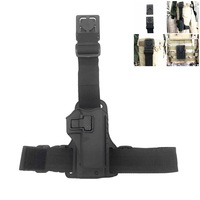 Military CQC GLOCK 1911 P226 Right Hand Paddle Thigh Hanger Belt Pistol Gun Holster Magazine Torch Pouch Right Drop Leg Holster