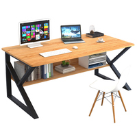Modern executive walnut color wooden home office table office furniture office desk