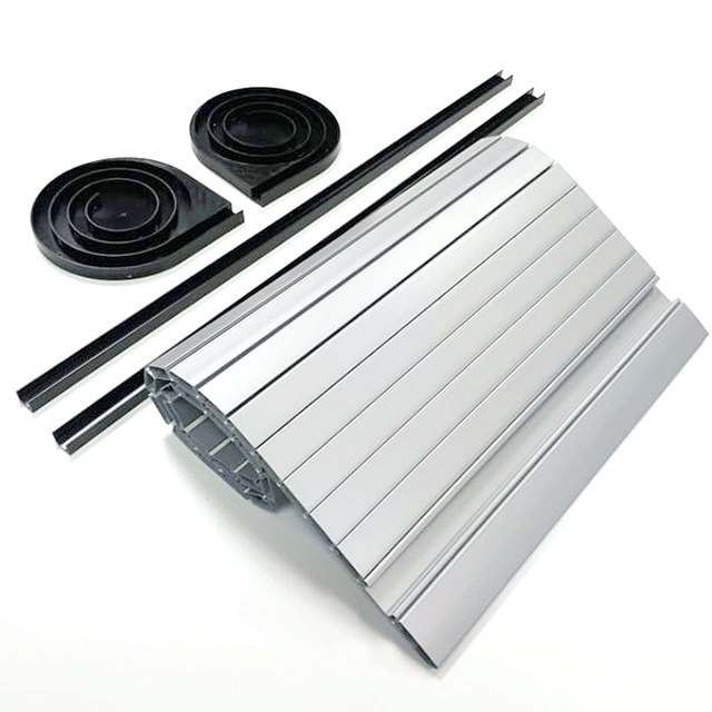 Furniture Kitchen Cabinet Plastic Roller Shutter Slats PVC ABS Tambour Door Silver kitchen cabinet roll up doors
