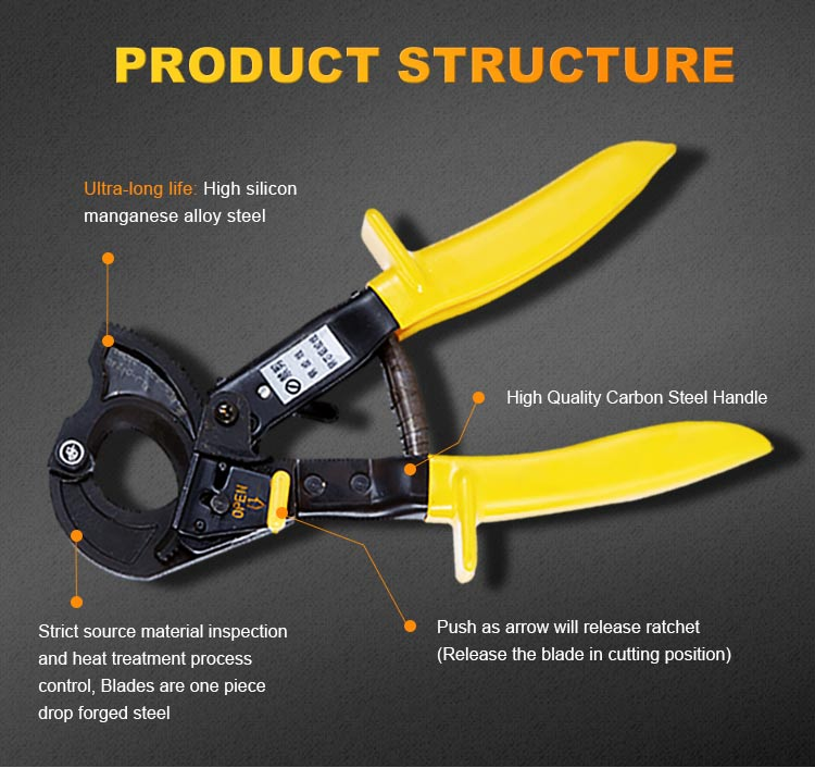 Idea product 2019 Ratchet structure cable trunking cutter used for 32mm cable