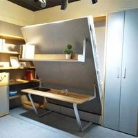 Multi-Purpose Vertical Wall Bed Furniture Murphy Bed Folding Wall Bed With Desk