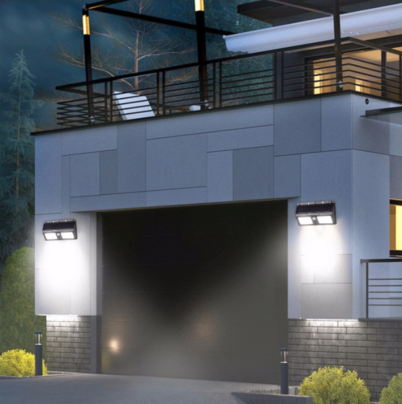Waterproof PIR Motion Sensor LED Solar Light Garden Yard Outdoor Wall Lamp Pathway