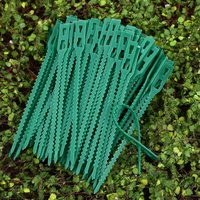 50/100Pcs Green Adjustable Garden Plant Twist Ties Flexible Reusable Plastic Plant Support Ties Multi-Use for Secure Vine