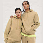 High Quality unisex blank 100% cotton street style pullover hoodies