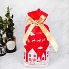 promotion Golden Christmas Tree Gift Bags Biscuit Plastic Cake Drawstring Bag for Xmas Party Home Decoration bolsas regalo navid