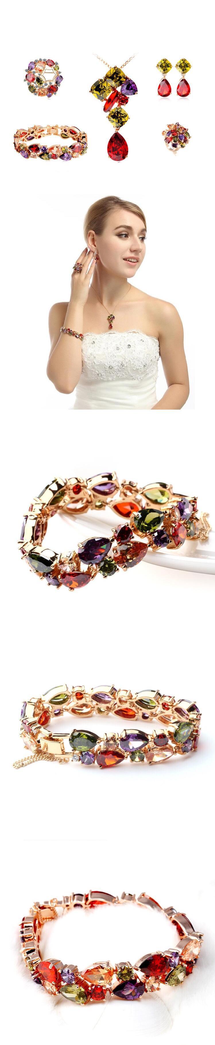 stainless+steel+jewelry bracelet gemstone gold plated bangle brass xuping jewelry