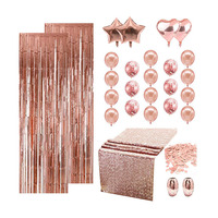 Nicro 28 Pcs Wholesale New Products Rose Gold Birthday Wedding Bridal Shower Party Decoration