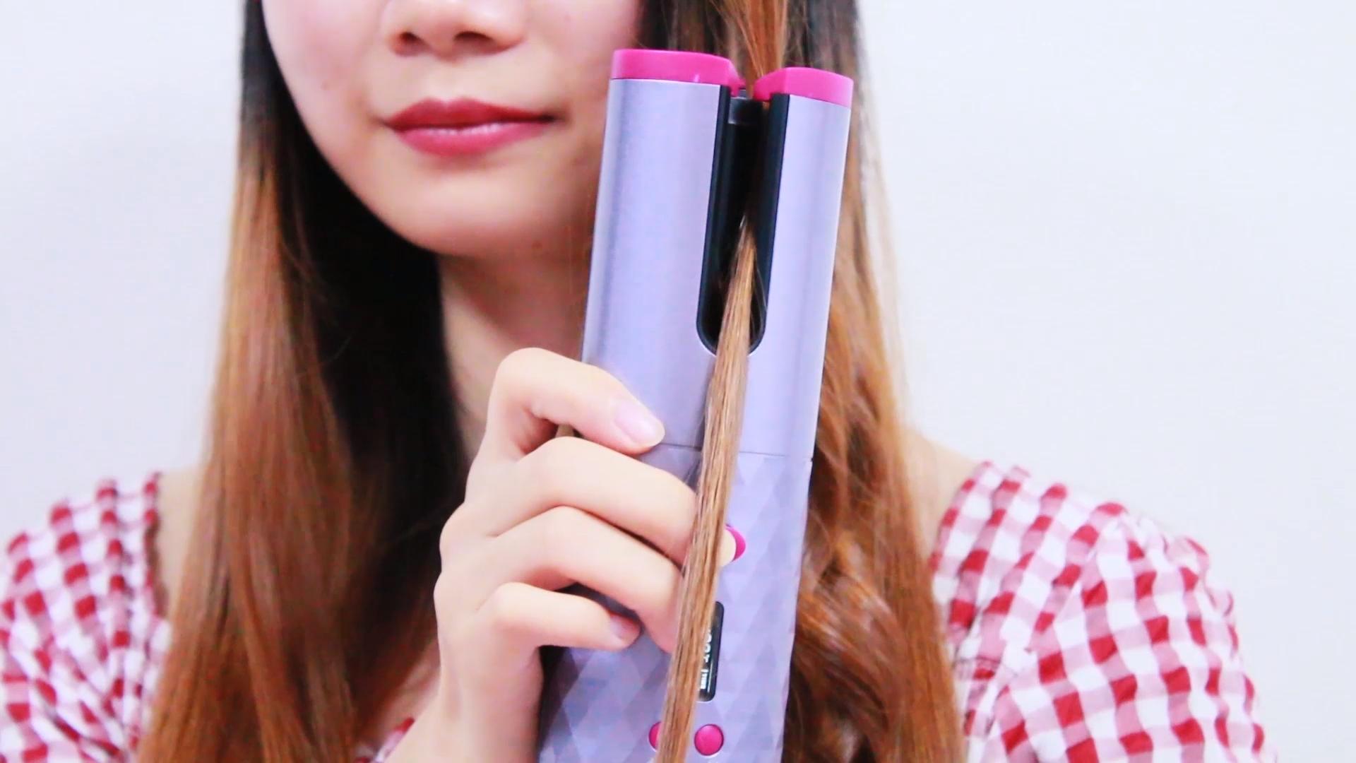 भाप स्प्रे बाल स्वचालित कर्लिंग लोहे एयर Curler सिरेमिक घूर्णन हवा कर्ल 1 इंच बाल कर्लिंग लोहे जादू बाल curler