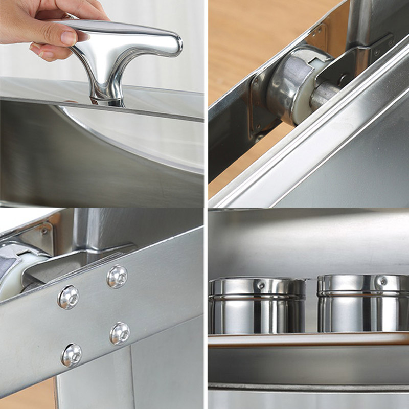 Hotel and restaurant supply cheap price roll top chaffing dishes buffet 9l stainless steel food warmer pot for catering