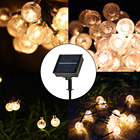 Lights Decoration Light Amazon Best Seller Solar Remote Control Bubble Ball String 10 Meters 60 Lights Christmas Decoration Warm Light Acrylic String Li