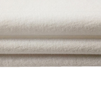 80% cotton 20% polyester white color terry towel fabric for hotel-18003810