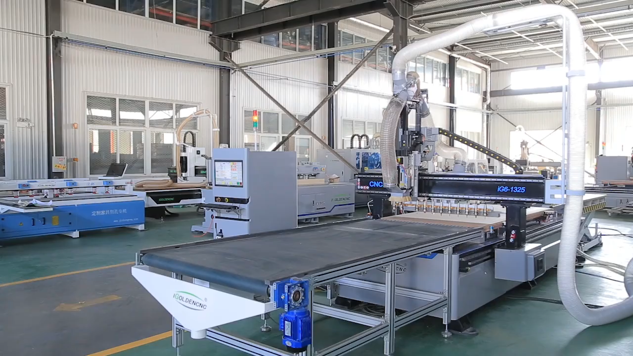 Automatical nesting solution 1325 CNC router for woodworking cnc nesting machine