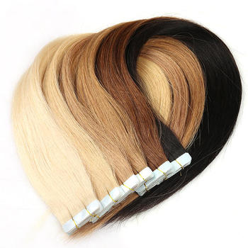 Wholesale Russian Remy Tape Hair Extensions Double Drawn Tape In Hair Extensions Virgin Human
