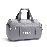 Custom Folding Sports Duffel Gym Bag Foldable Travel Bag with Shoes Compartment
