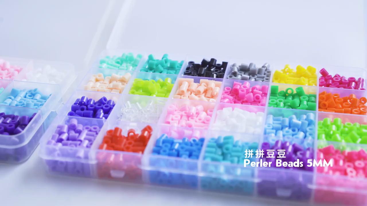 Grosir Mainan Pendidikan Diy Set Manik-manik Setrika Permainan Puzzle Manik-manik Hama Perler 5Mm