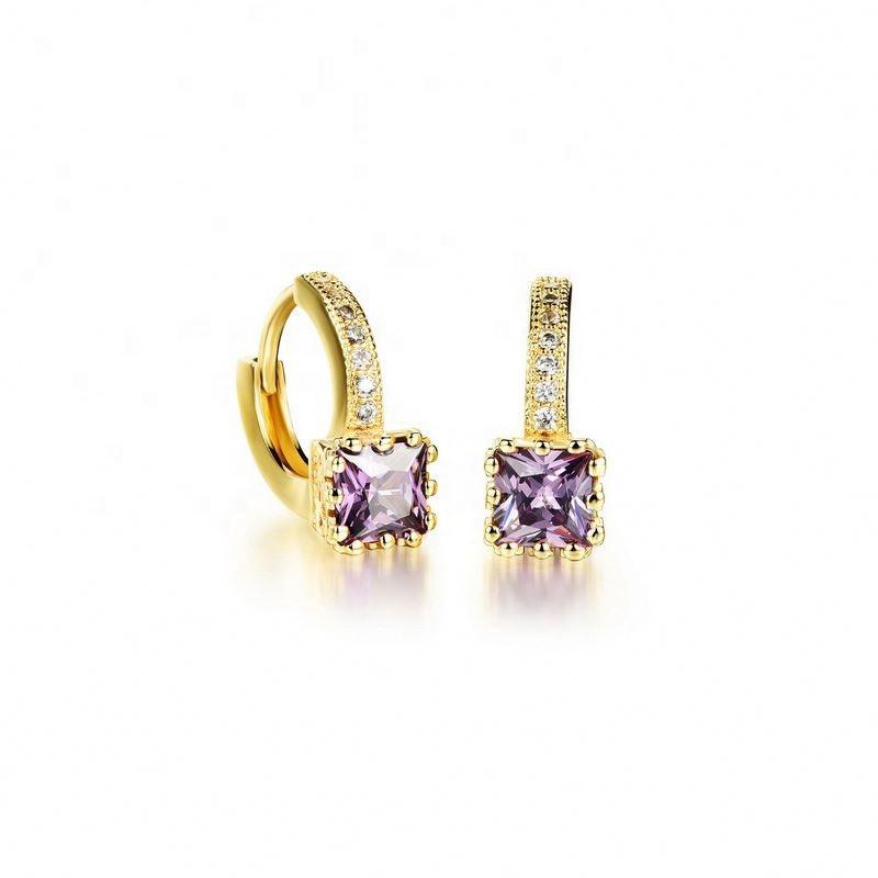korean jewelry, 14k  hoop earring women gold earrings, rhinestone korean fashion earrings for women
